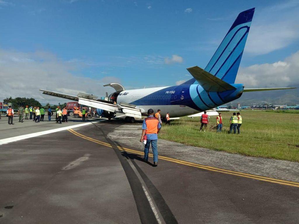 Video Pesawat Trigana Miring Saat Landing di Wamena, Sayap Kena Runway