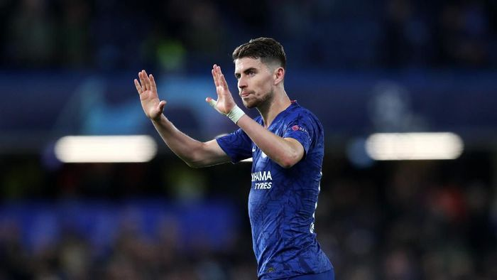 LONDON, ENGLAND - NOVEMBER 05: Jorginho of Chelsea after the UEFA Champions League group H match between Chelsea FC and AFC Ajax at Stamford Bridge on November 05, 2019 in London, United Kingdom. (Photo by Catherine Ivill/Getty Images)