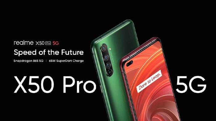 Realme X50 Pro 5G, smartphone flagship 5G pertama besutan Realme.