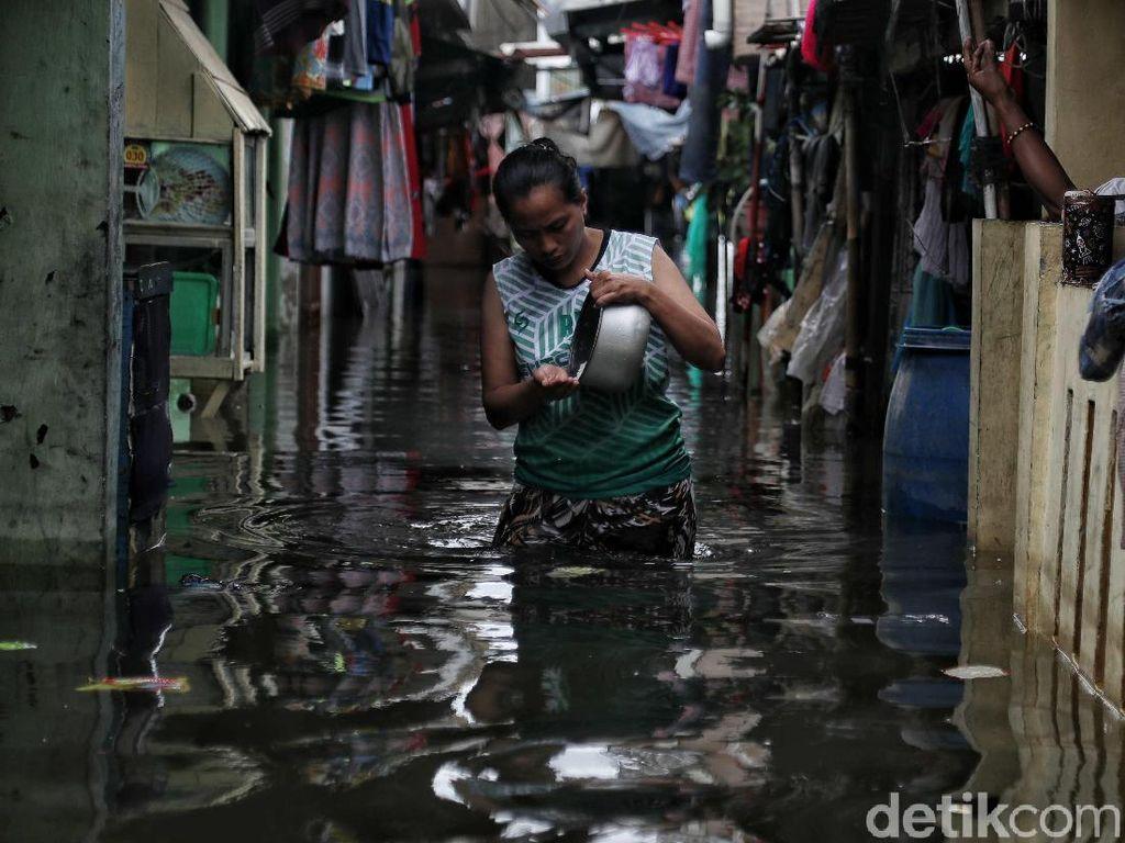 Banjir Jakarta Hari Ini, 3.565 Warga Mengungsi di 40 Titik