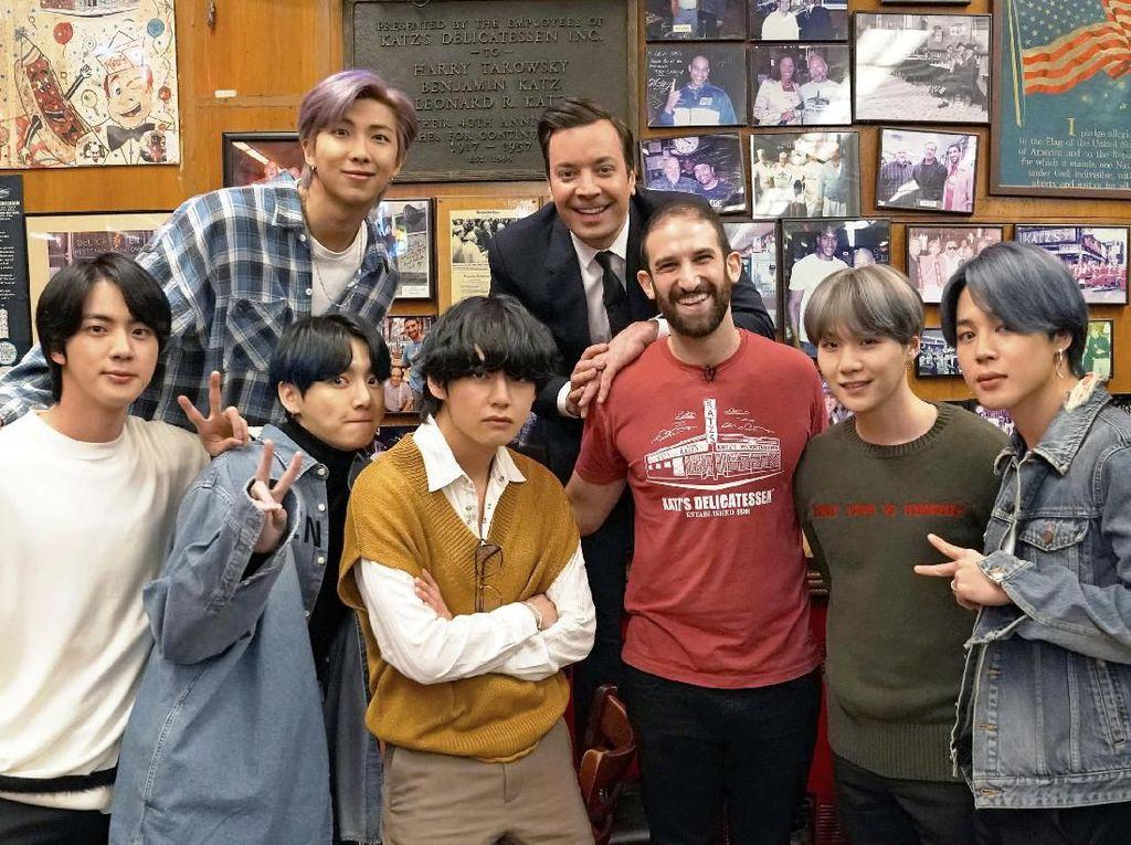 Tampil di Tonight Show, BTS Diajak Jimmy Fallon Nikmati New York