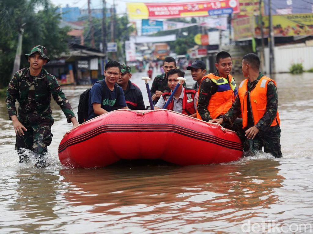 Sejumlah Lokasi di Bekasi Masih Terendam Banjir, Ini Sebarannya