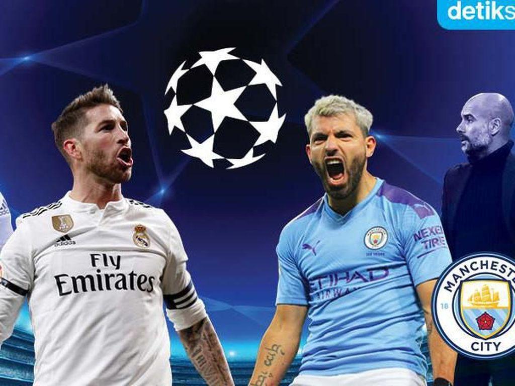 Susunan Pemain Real Madrid vs Manchester City