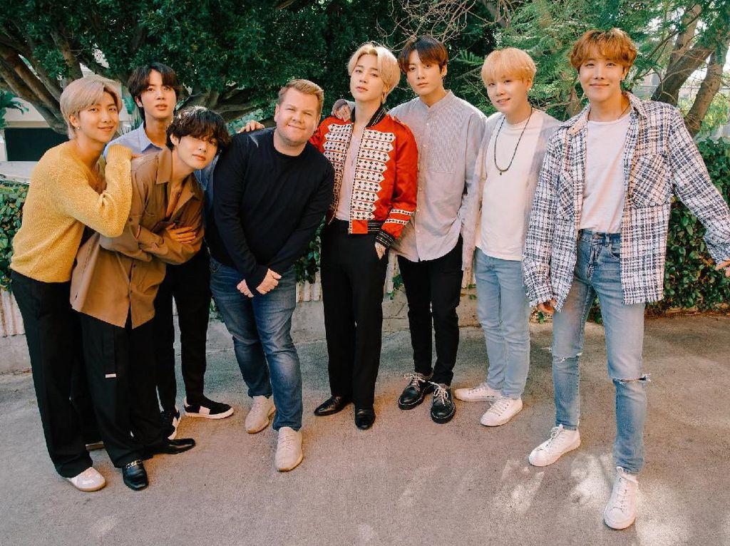 Kocak! BTS Seru-seruan Bareng James Corden di Carpool Karaoke