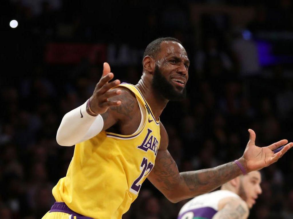 Hasil NBA: LeBron James Cetak 40 Poin, Lakers Kalahkan Pelicans
