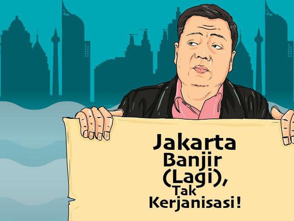 Jakarta Banjir (Lagi), Gubernur Tak Kerjanisasi!