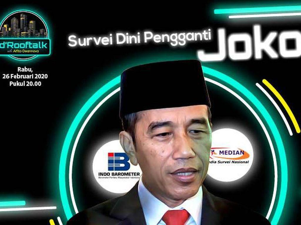 Tonton dRooftalk Malam Ini Survei Dini Pengganti Jokowi