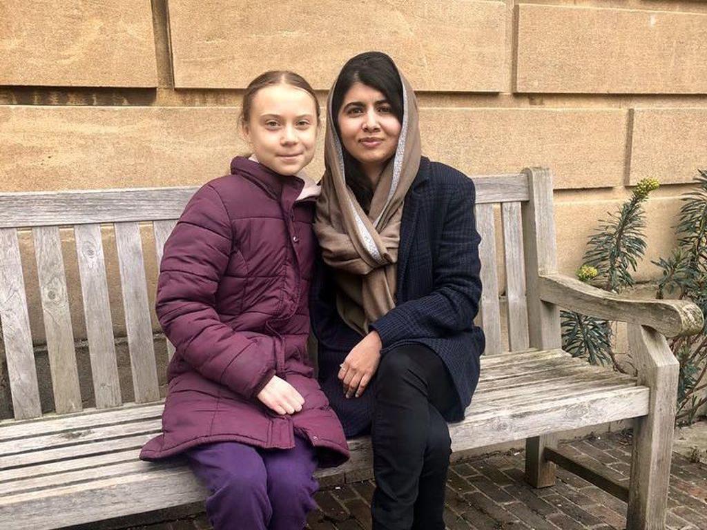 2 Anak Muda Inspiratif Greta Thuberg dan Malala Bertemu, Ini yang Terjadi