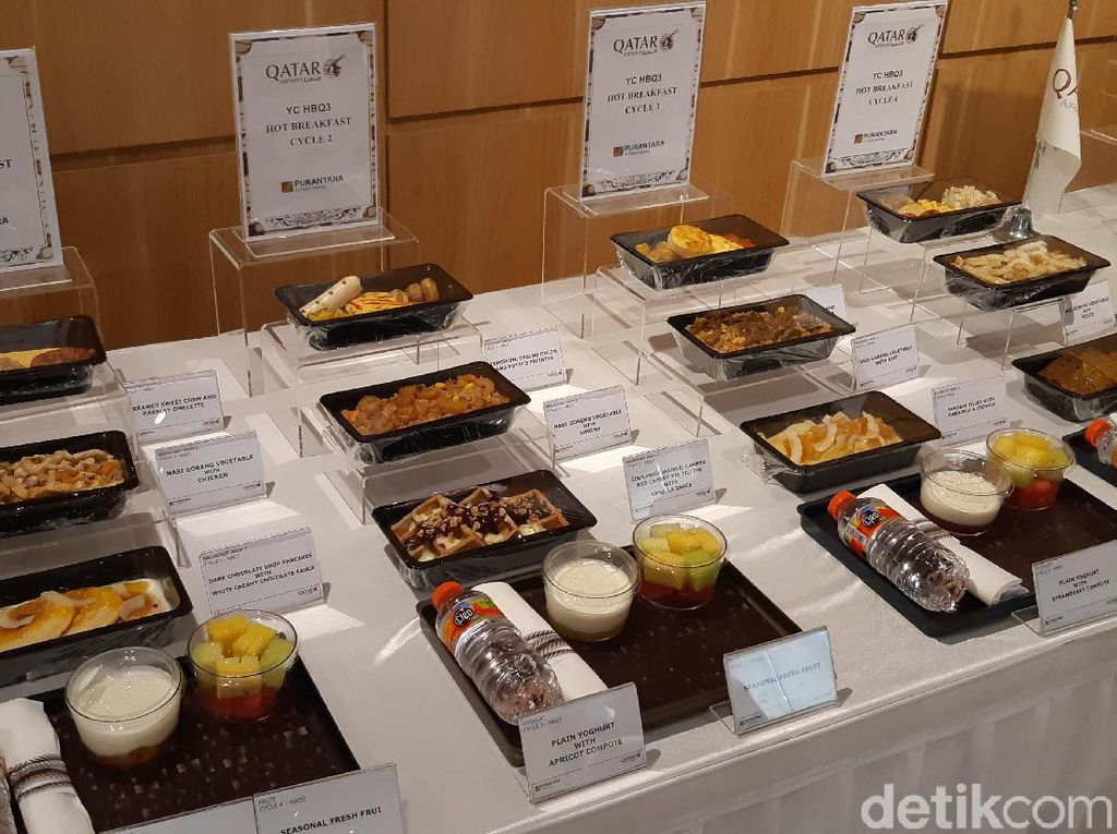 Manjakan Penumpang, Qatar Airways Perbanyak Porsi Makanan