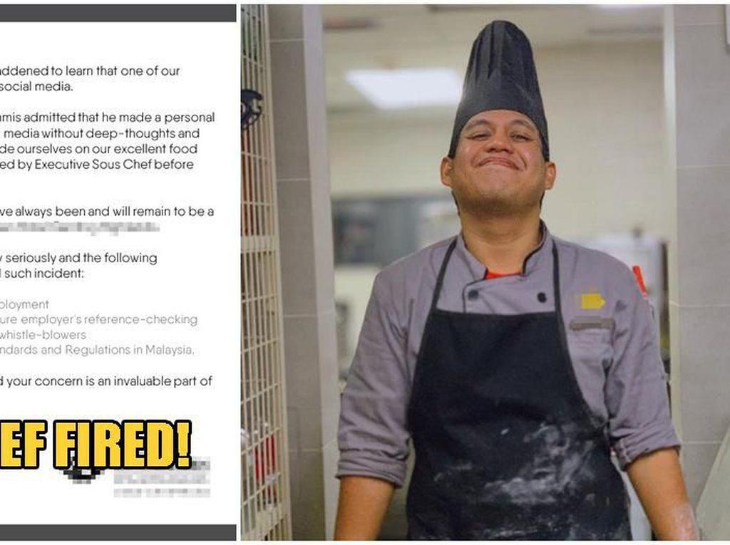 Bersikap Rasis Pada Pelanggan China, Chef Ini Dipecat