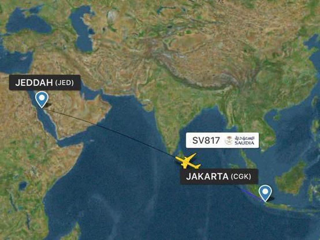 KBRI Kawal 5 Pesawat Jemaah Umrah RI yang Dalam Perjalanan ke Saudi