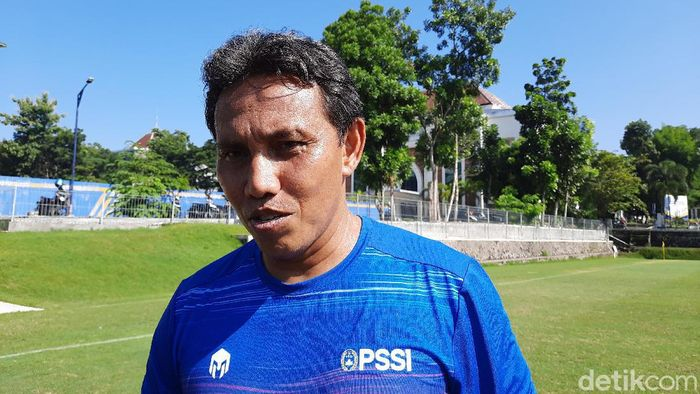 Pelatih Timnas Indonesia U-16, Bima Sakti.