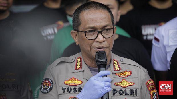 Kabid Humas Polda Metro Jaya Kombes Pol Yusri Yunus. Jakarta, Kamis, 27 Februari 2020.