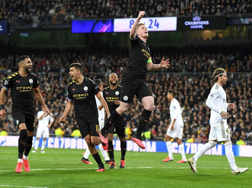 Real Madrid vs Man City: Los Blancos Keok 1-2, Ramos Dikartu Merah