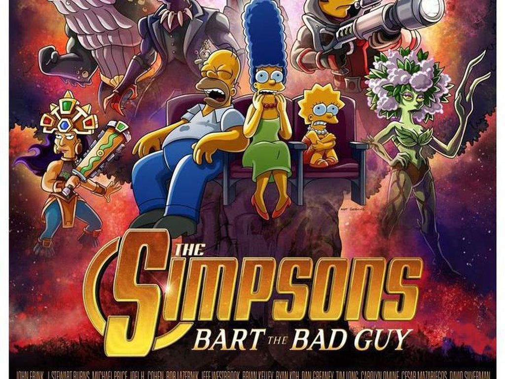 Nyeleneh! Poster The Simpsons Duplikat Infinity War