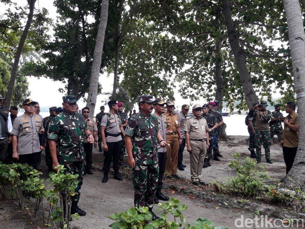 Panglima TNI dan Kapolri Tinjau Pulau Sebaru Tempat WNI ABK World Dream