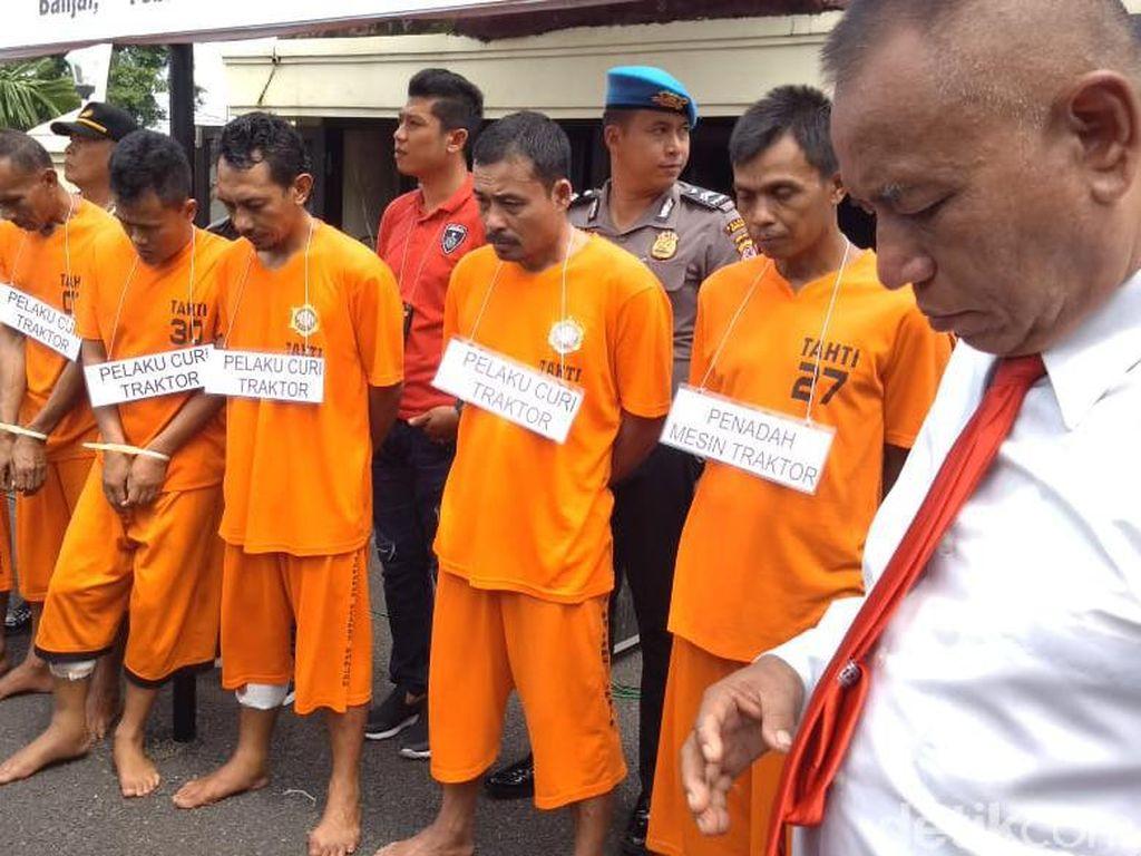 Gondol Traktor Bantuan Pemkot Banjar, 4 Pencuri Didor Polisi