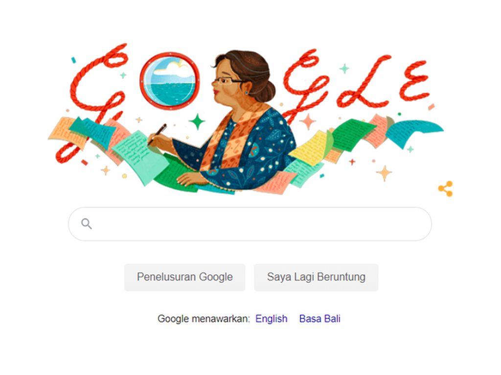 Google Doodle Hari Ini Beri Penghormatan pada Sastrawan NH Dini