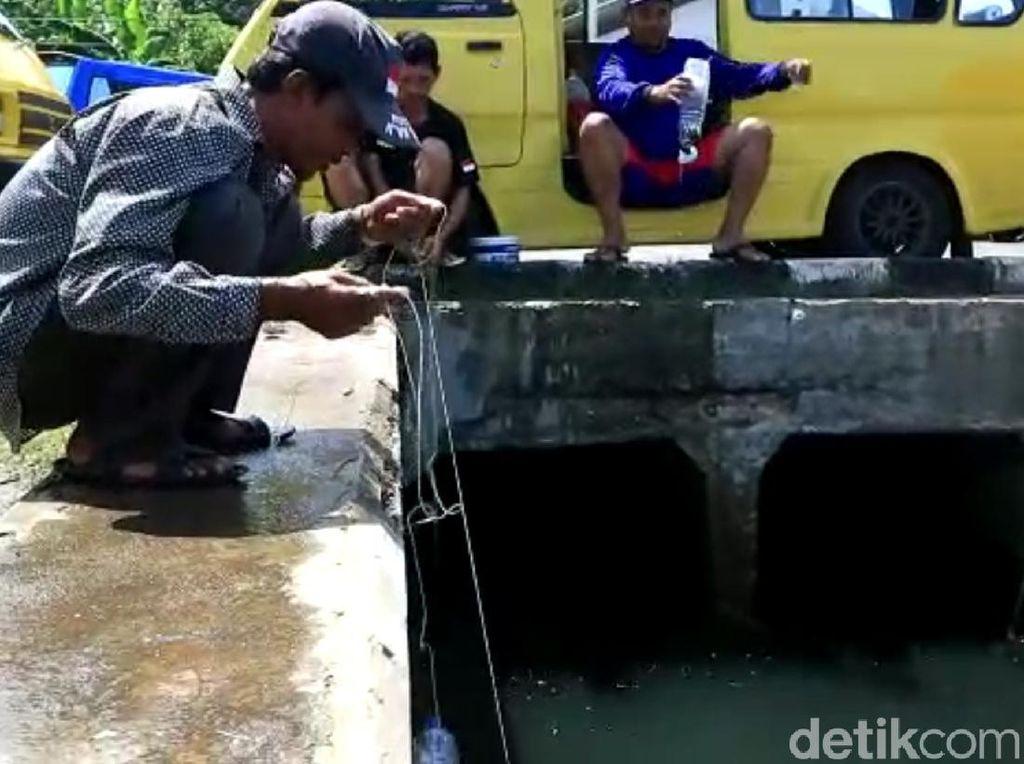 Melihat Asiknya Mancing Ikan Pakai Botol Plastik di Dermaga Palabuhanratu