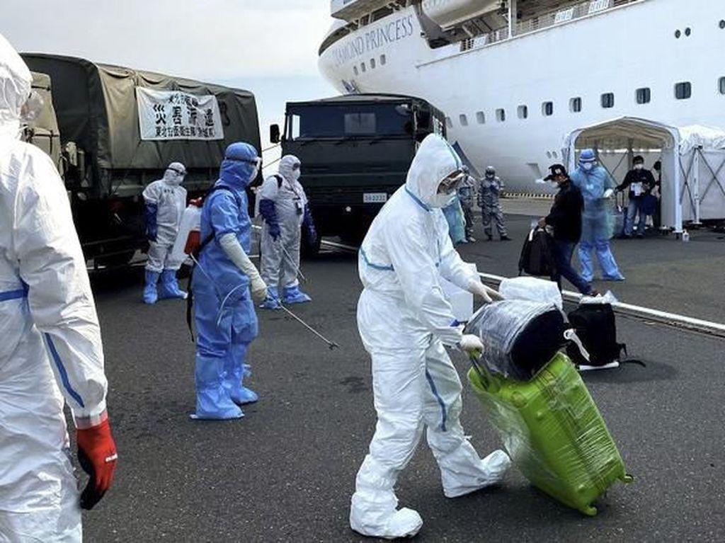 Intip Proses Evakuasi WNI ABK Diamond Princess di Jepang