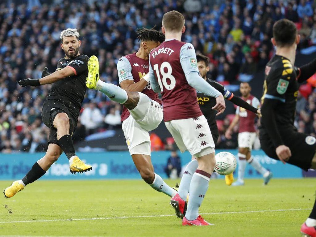 Babak I Final Piala Liga Inggris: Man City Ungguli Villa 2-1