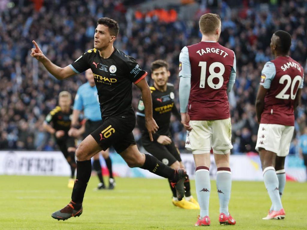 Final Piala Liga Inggris: Man City Kalahkan Aston Villa 2-1