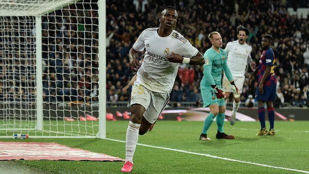 Vinicius Junior mulai bersinar bersama Madrid.