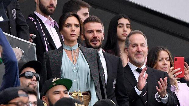 David Beckham menyaksikan laga perdana Inter Miami di MLS.