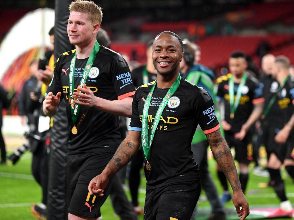 Sterling: Titel Liga Inggris Lepas? Tak Masalah, Ada yang Lainnya