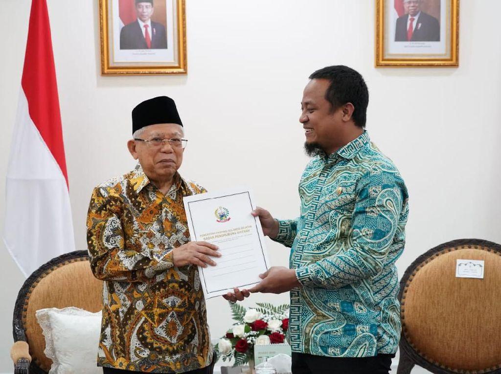 Temui Maruf Amin, Wagub Sulsel Ajukan Bantuan untuk Seko-Danau Tempe