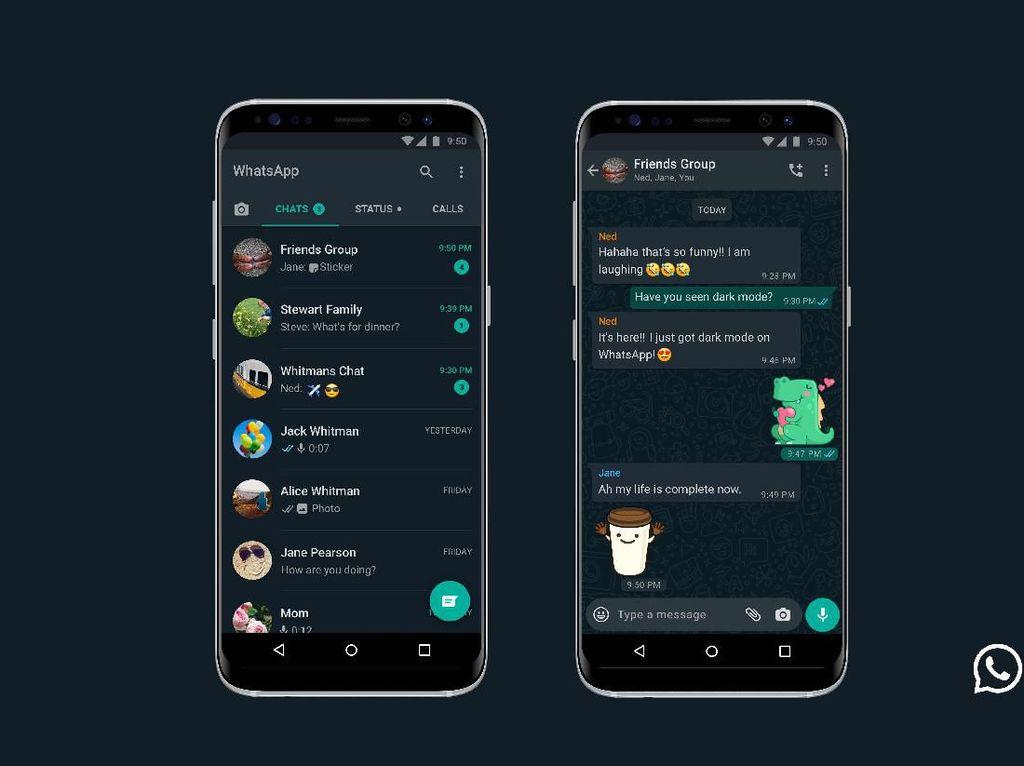Zuckerberg: Dark Mode WhatsApp Fitur Paling Didambakan