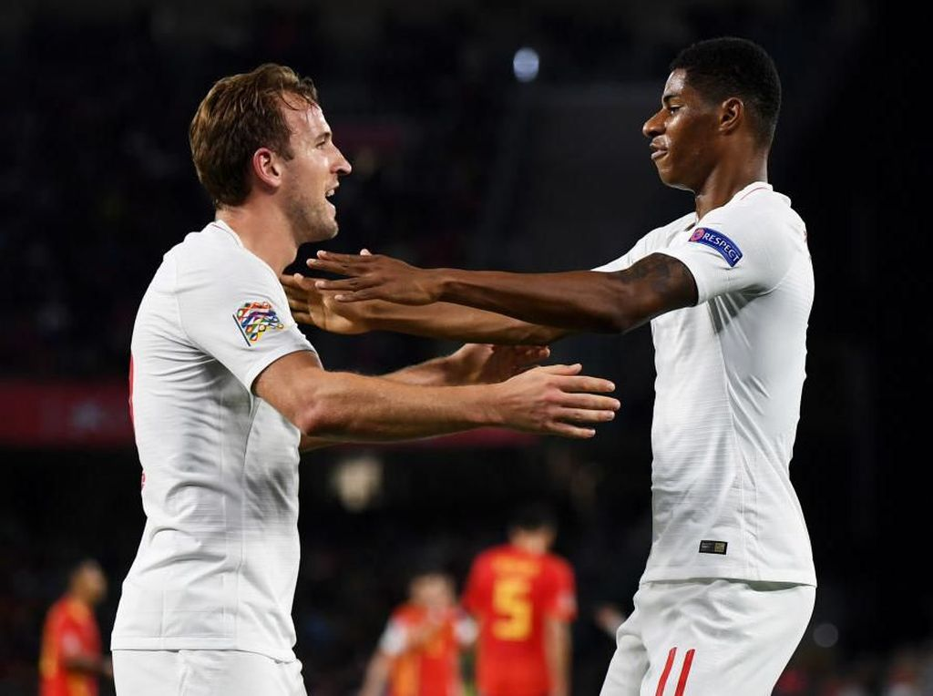 Southgate Optimis Duet Rashford-Kane Pulih Sebelum Euro 2020