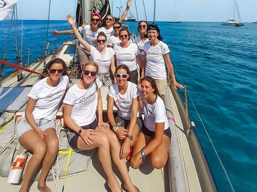Foto: Sekelompok Wanita Berlayar Untuk Perangi Sampah Plastik