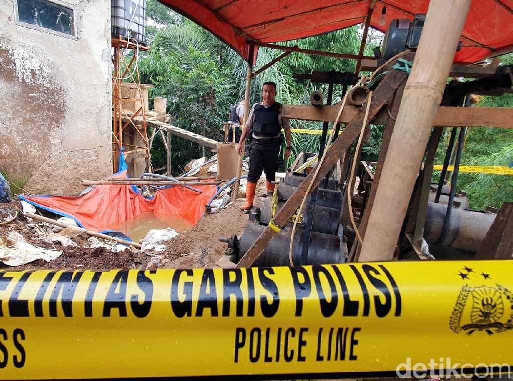 Polisi Gerebek Gudang Pengolahan Tambang Emas Ilegal di Sukabumi