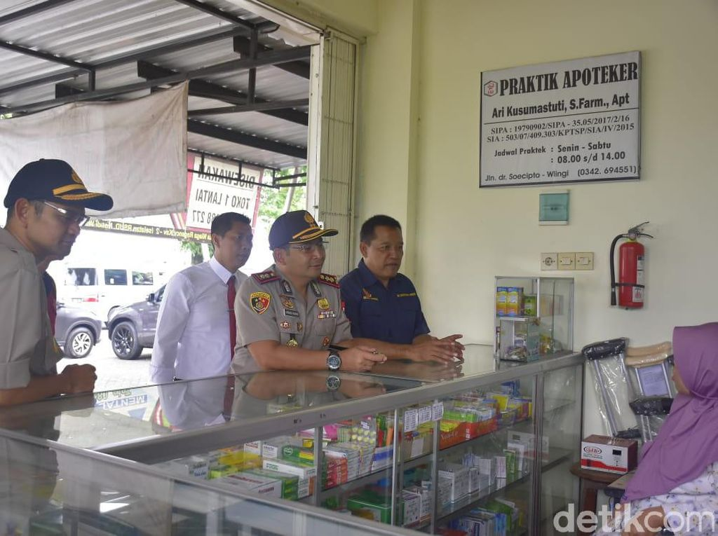 Polisi Sidak Apotek dan Supermarket, Stok Masker Kosong, Hand Sanitizer Sedikit