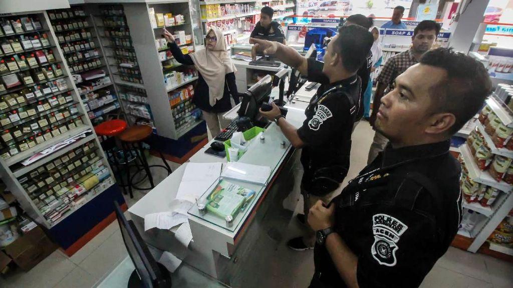 Polda Aceh Gelar Razia Masker di Apotek