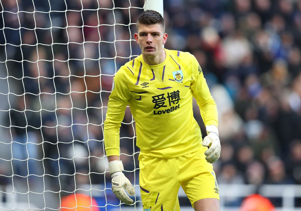 NEWCASTLE UPON TYNE, ENGLAND - FEBRUARY 29:  Nick Pope of Burnley looks on during the Premier League match between Newcastle United and Burnley FC at St. James Park on February 29, 2020 in Newcastle upon Tyne, United Kingdom. (Photo by Alex Livesey/Getty Images)
