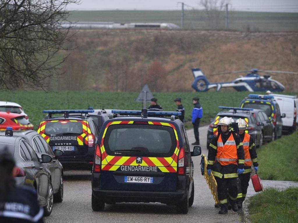 Rangkaian Kereta Cepat Anjlok di Prancis, 21 Orang Luka-luka