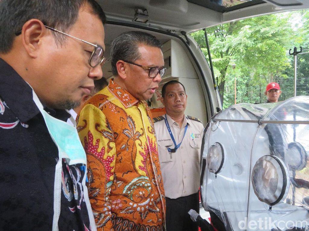Ada Warga Dicek Sampelnya Terkait Corona, Gubernur Sulsel Tinjau RS Wahidin