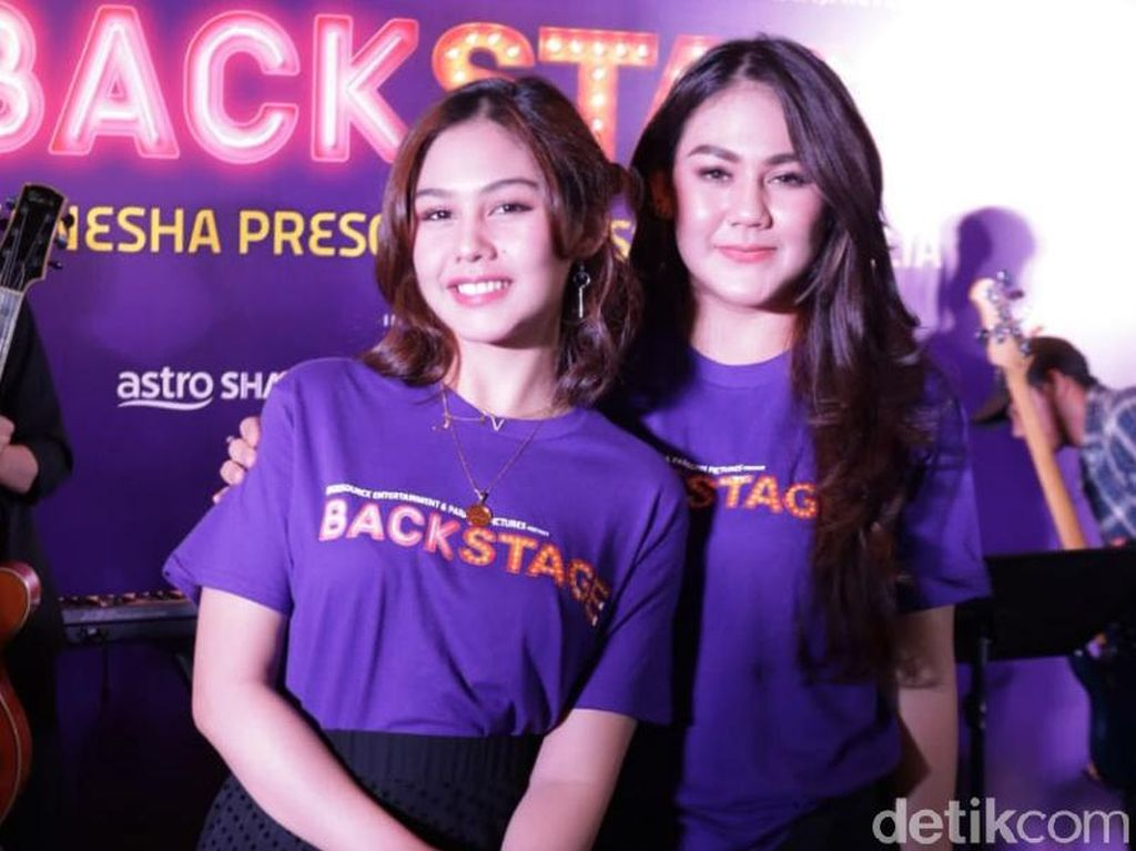 Backstage Jadi Duet Perdana Vanesha dan Sissy Priscillia