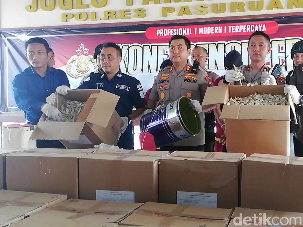 Polisi Temukan 2,5 Ton Ikan Asin Berformalin di Pasuruan, 2 Orang Diamankan