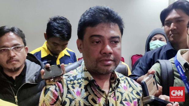 Said Iqbal di Hotel Mega Proklamasi, Jakarta, Kamis (5/3).