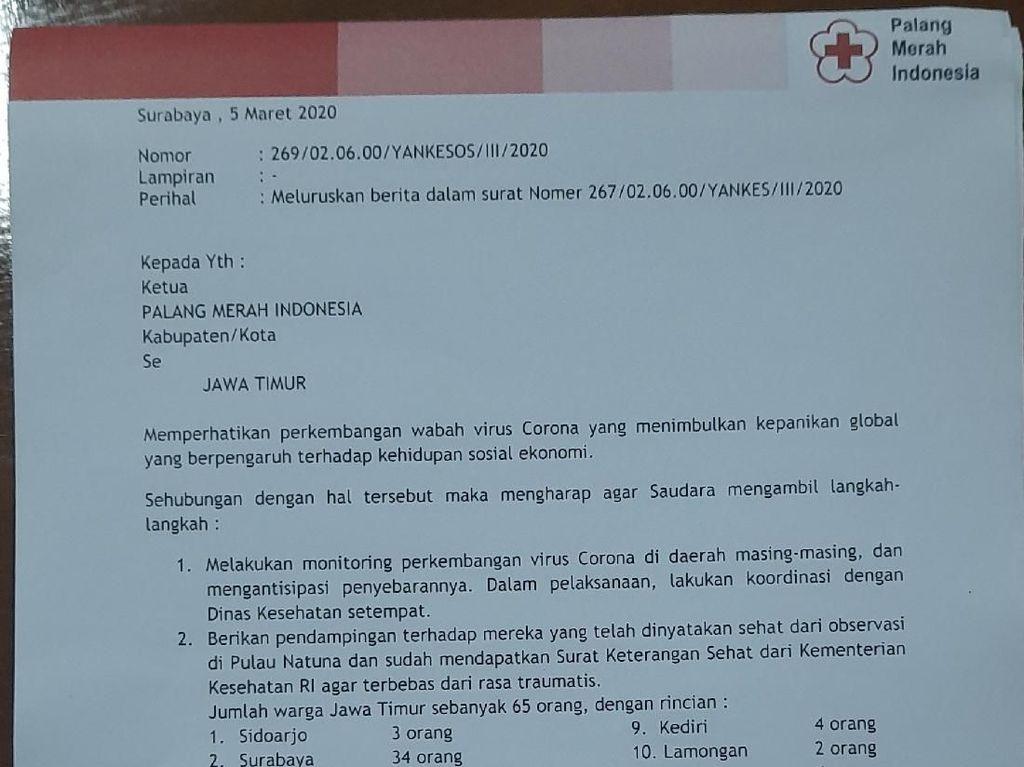 Heboh Surat PMI Soal 65 Warga Jatim Suspect Corona hingga Direvisi Jadi Sehat