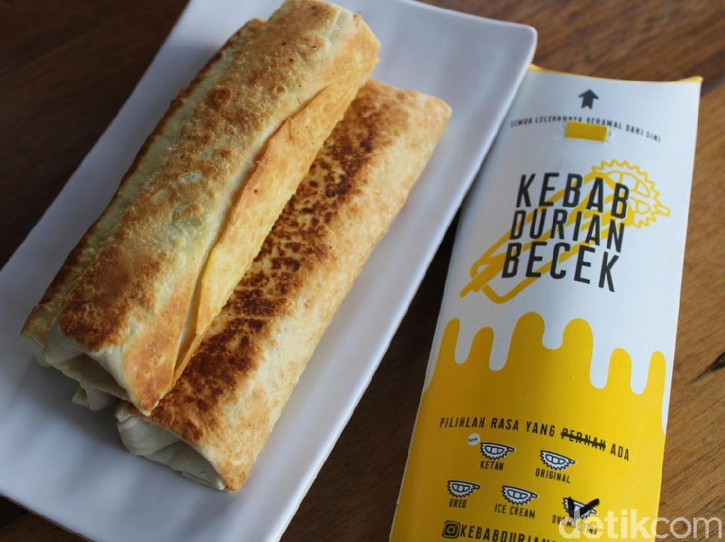 Kebab Durian Becek: Creamy Lumer! Kebab Durian Kekinian yang Legit