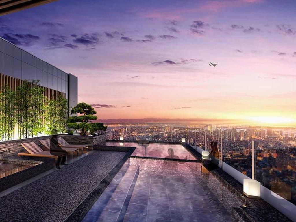 Wow! Hotel Mewah Ini Tawarkan Onsen dengan View Runway Bandara Haneda
