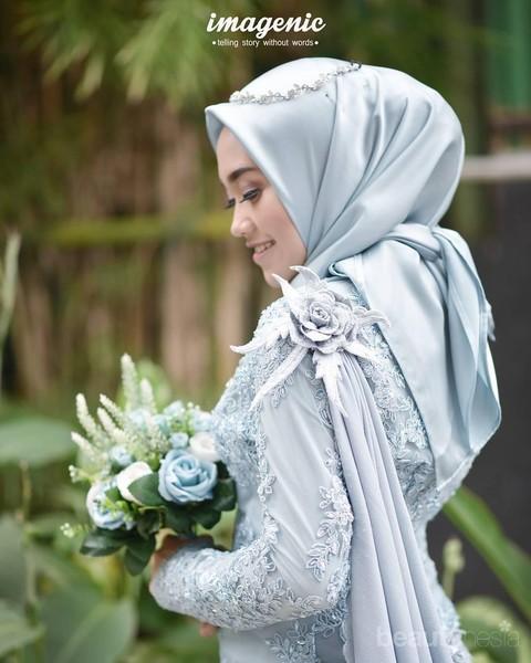 Tutorial Hijab Tunangan Yang Lebih Kekinian Dengan Model Hijab Simple Dililit Ke Leher