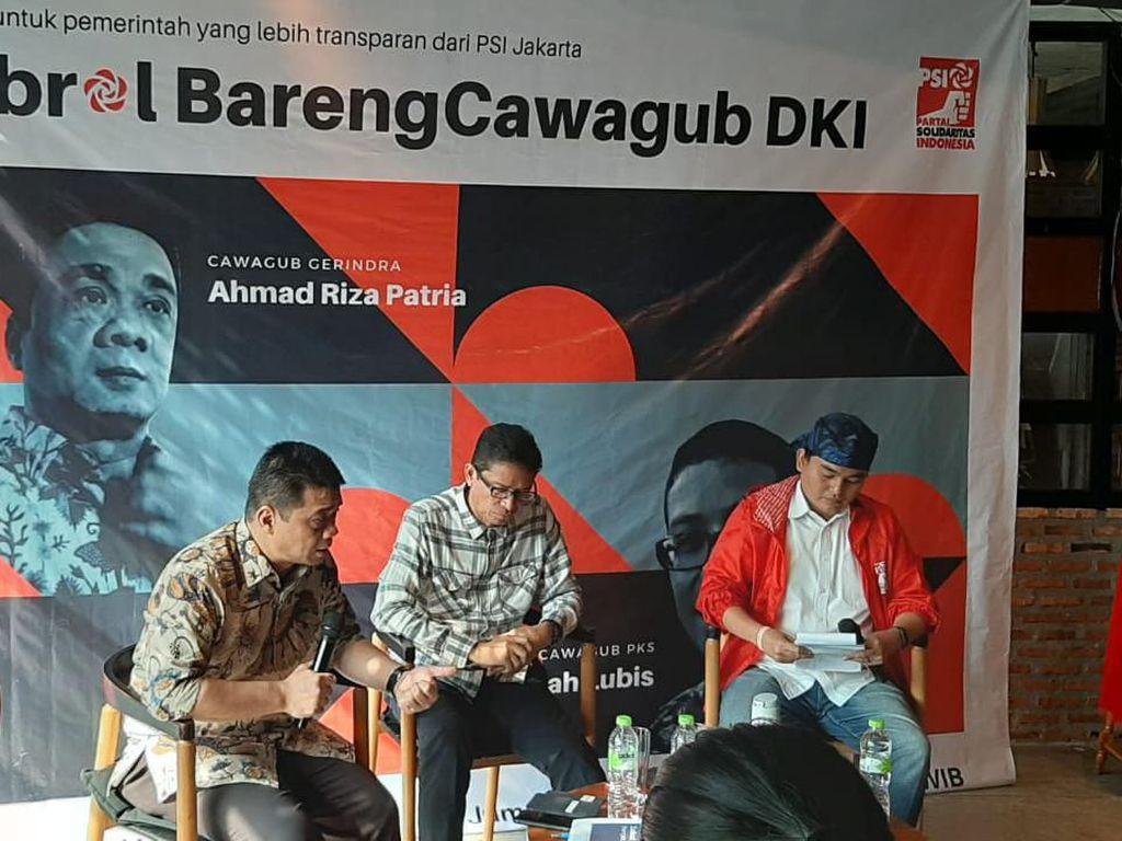 Cawagub DKI Riza Patria Usul Penambahan RTH-Pompa Solusi Banjir Jakarta