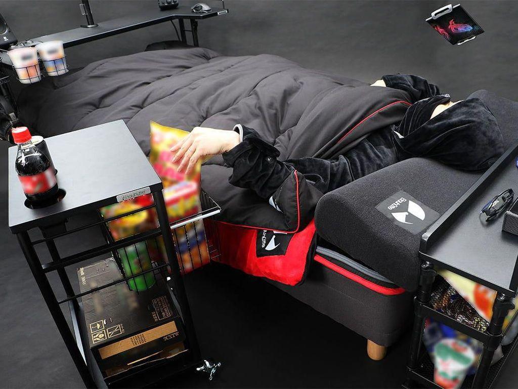 Tempat Tidur Ini Dirancang Khusus Buat Gamer yang Hobi Ngemil