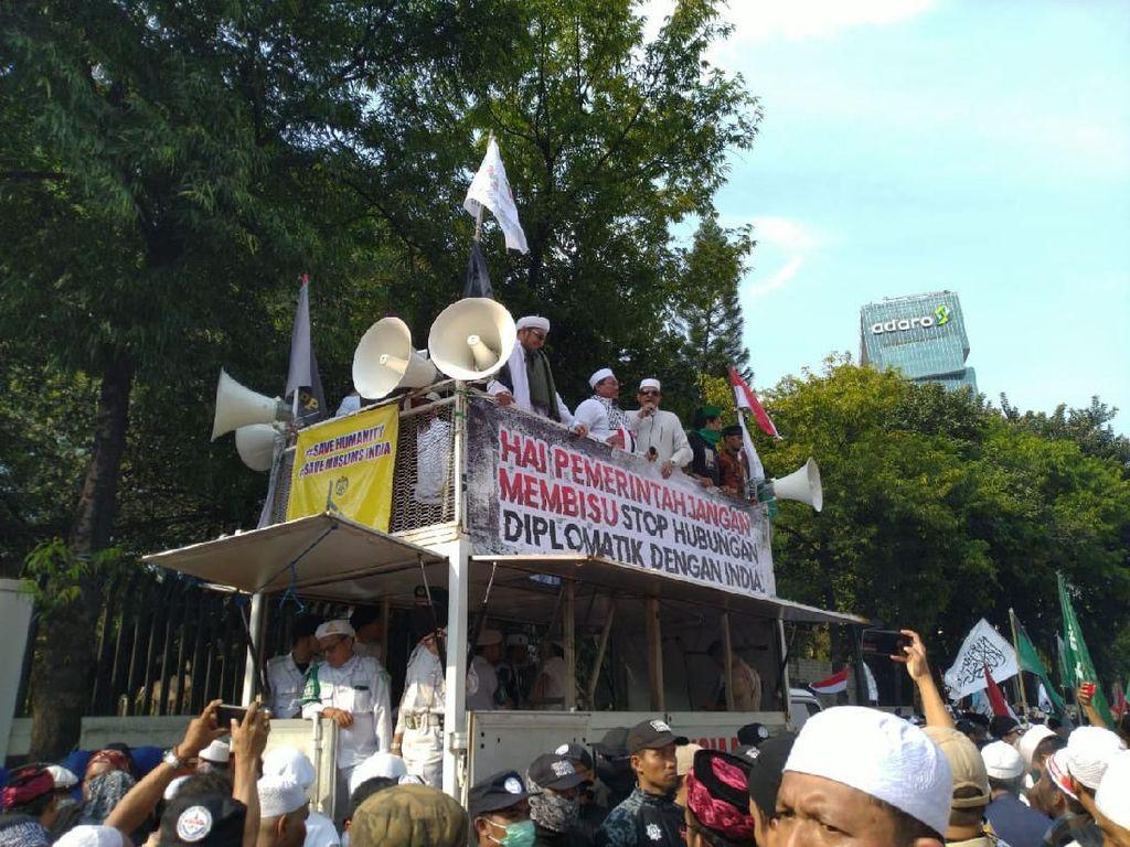 Demo di Kedubes, GNPF: Hentikan Penyiksaan ke Muslim di India!