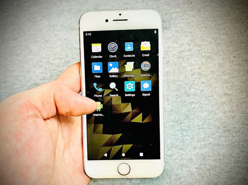 Ajaib! iPhone Ini Bisa Jalankan Android 10